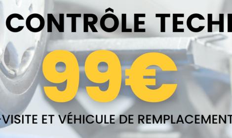 Pack contrôle technique à 99€*!