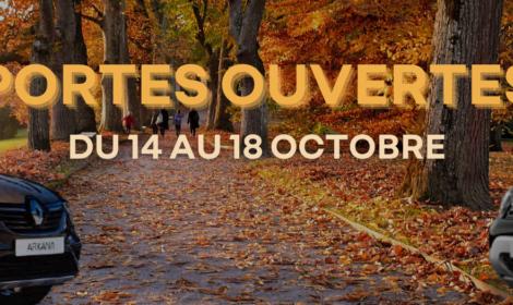 Portes ouvertes du 14 au 18 octobre